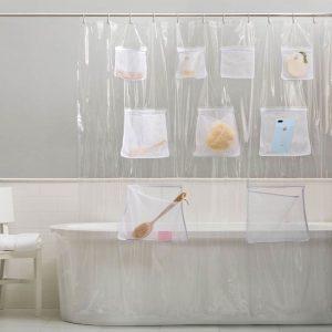 Bath Organizer Shower Curtain