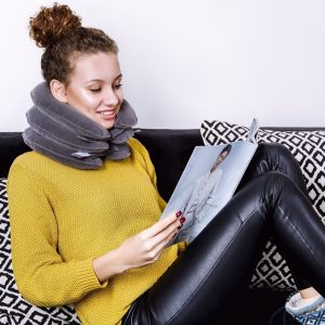 Expandable Pain-Relief Neck Pillow Collar