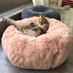 BriteDoggie Comfy Faux Fur Pet Bed