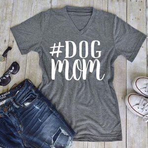 """Hashtag DogMom"" T-Shirt"