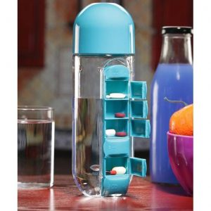 Vitamins Organizer Water Bottle