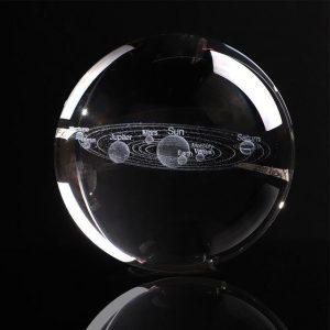 Engraved Solar System Sphere